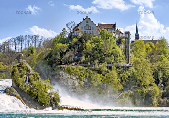 Castle Laufen at the Rhine Falls,  near Schaffhausen, Switzerland