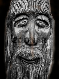 woodcarving of the prophet