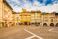 People going shopping in the streets of Bolzano