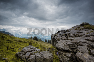 Alpine Landscape at Muehlbach am Hochkoenig in Summer