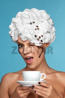 Cappuccino woman.