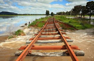 Power of floodwaters landscape Australia