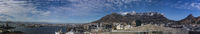 Panoramic view on Cape Town with Harbour, Table Mountain, Lionshead