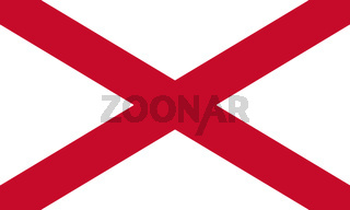 Northern Ireland Flag. Saint Patrick's Saltire 3D illustration