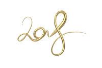 New 2018 year elegant golden lettering number figures isolated on white background. 3D illustration