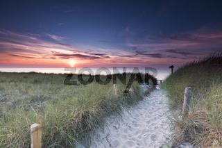 Strandzugang zum Weststrand auf dem Darss