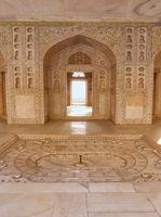 Interior of Khas Mahal in Agra Fort, Uttar Pradesh, India