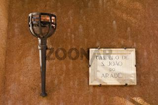 Eingangsbereich Castelo de S Joao Do Arade