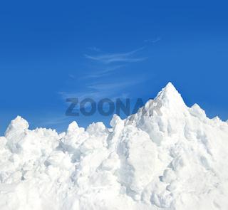 Mountain of snow