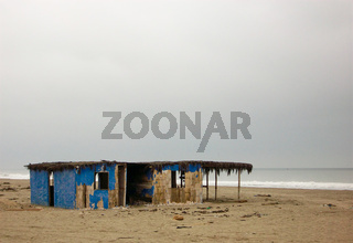 Verlassenes Strandhau