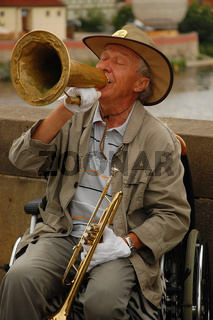 Stiff-limbed Jazz Player