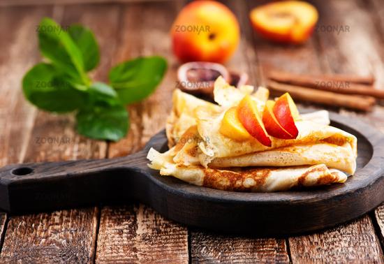 pancake with peach