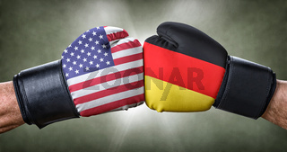 A boxing match between the USA and Germany
