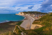 Etretat cliffs with arch - Normandy France