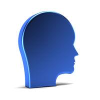 Man Head. 3D Rendering Illustration