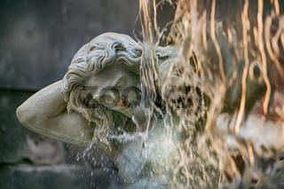 Amenano Fountain on Piazza del Duomo in Catania, Sicily, Italy