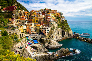Traditional Manarola village, Cinque Terre, Italy, Europe.