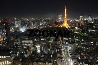 Tokyo City in Japan at night