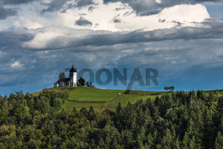 Church on the hill,  Jamnik, Slovenia