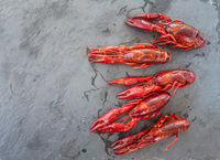 Boiled crawfish