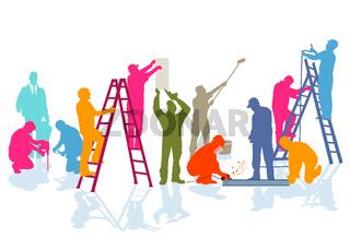 Handwerker-Farben