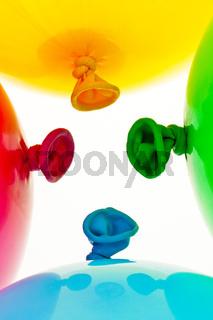 Bunte Luftballons. Symbol  Leichtigkeit, Freiheit, Feiern