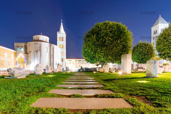 Old town Zadar at night