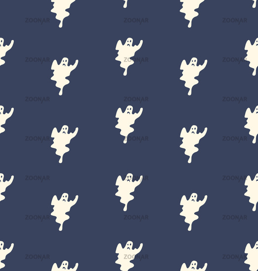 Set of halloween  ghosts for design isolated on background, such logos.