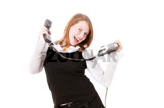 Mädchen telefoniert mit Spaß