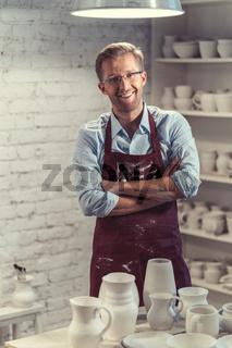 Smiling potter