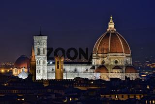 Dom von Florenz bei Nacht -  Santa Maria Del Fiore