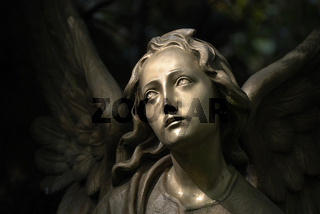 Friedhofskulptur / Bronzeengel