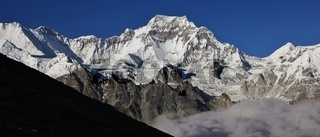 High mountain in the Gokyo valley, Nepal.