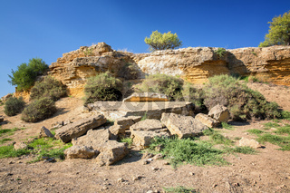 Ruins entrance of the fifth Gate from the south side 'Fortifications Porte V' Agrigento