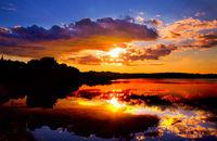 Sonnenuntergang an einer Lagune von Prematura