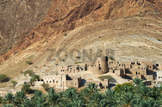 Lehmhäuser in Birkat al Mawz, Oman