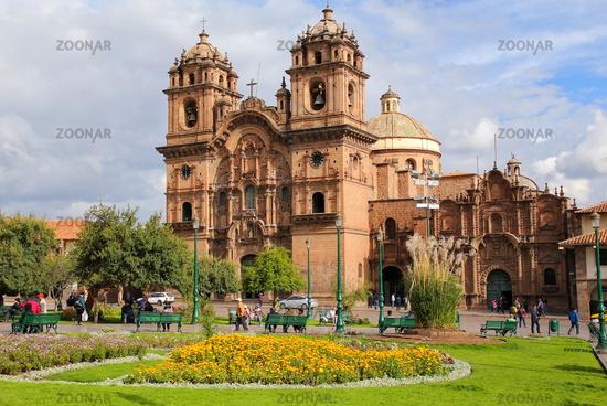 Iglesia de la Compania de Jesus on Plaza de Armas in Cusco, Peru