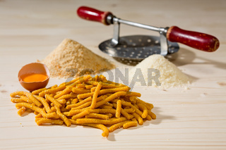 Passatelli original Italian pasta and ingredients