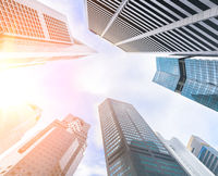 Business towers upwards