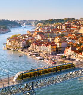 Porto cityscape at sunset, Portugal