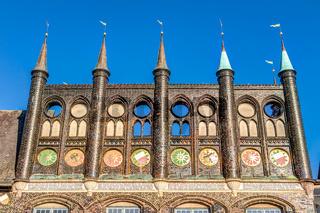 Rathaus der Hansestad Lübeck in Schleswig-Holstein