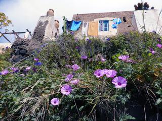 Wohnhaus auf Alicudi, Liparische Inseln, Italien