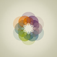 abstract stylish colorful flower