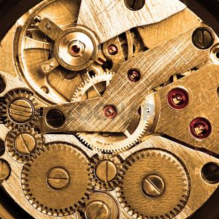 Clockwork of wristwatch