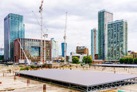 Construting area of canary wharf