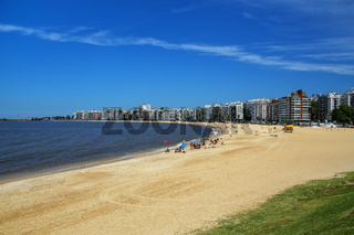 Pocitos beach along the bank of the Rio de la Plata in Montevide