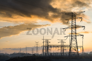 power tower at dusk