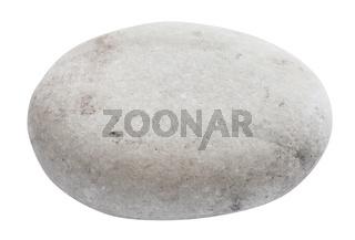 polished beach pebble isolated on white