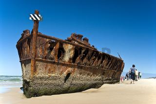 Wrack des ehemaligen Luxusliner S.S. Maheno, Seventy-Five-Mile-Beach, UNESCO Weltnaturerbe Fraser Island