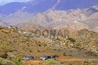 Geländewagen im Richtersveld Nationalpark